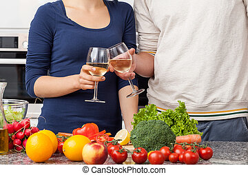 vinho, cozinha