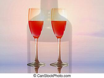 vinho, de, a, sol