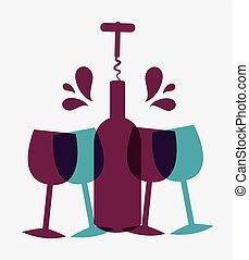 vinho, design.