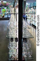vinho, exposição, óculos