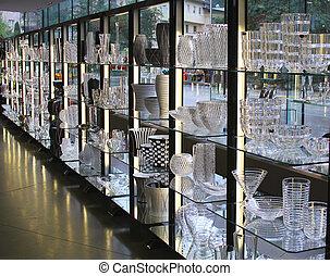 vinho, exposição, óculos, vasos