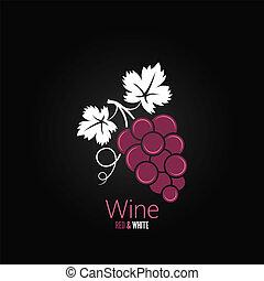 vinho, fundo, uvas, menu, desenho