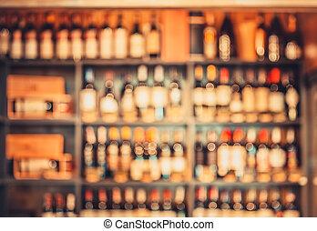 vinho, loja, prateleiras