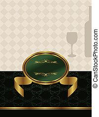 vinho, ouro, etiqueta