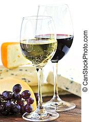 vinho queijo
