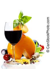vinho, queijo, italiano, ingredientes