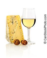 vinho, queijo, nozes