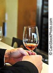 vinho rosa, vidro
