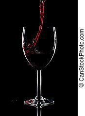vinho tinto, respingo