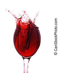 vinho tinto, respingue, saída
