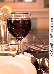 vinho tinto, vidro