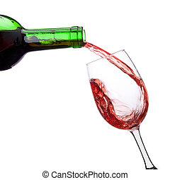 vinho vermelho derramando