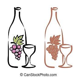 vinho., vermelho