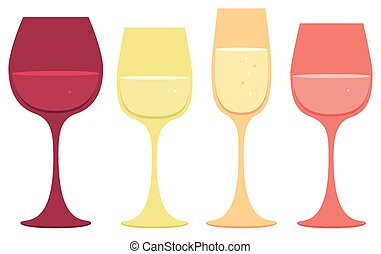 vinho vidro, ícones