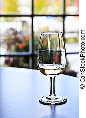 vinho vidro, provando