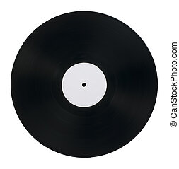 Vinil Record white isolated