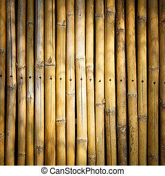 Vinjett, stil, bambu, bakgrund, käpp