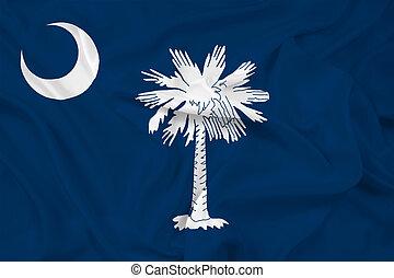 vinka, tillstånd flagg, södra carolina