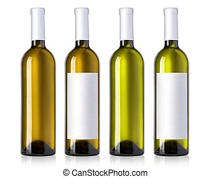 vino blanco, botellas