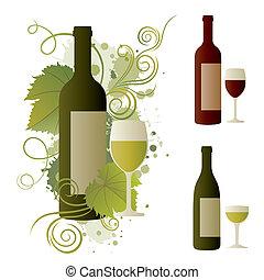 vino, disegnare elemento