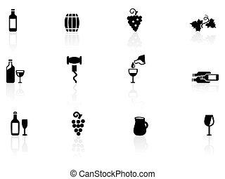 vino, icone
