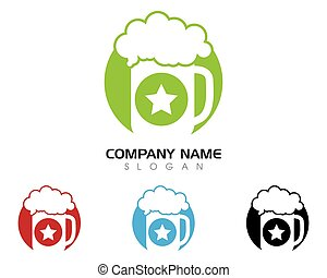 vino, logotipo, plantilla