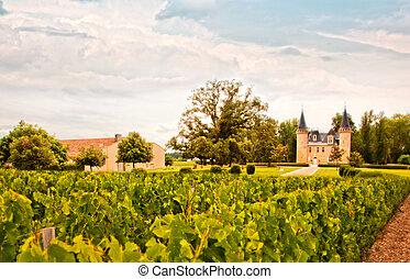 vino, paisaje, francia