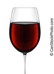 vino rojo, en, vidrio