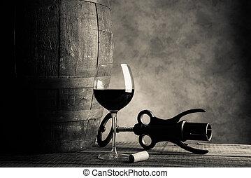 vino rojo, saboreo, -, crema, tono, estilo, imagen