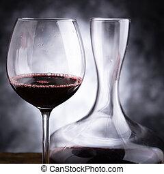 vino, rojo, saboreo
