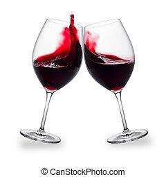 vino rojo, salpicadura
