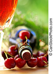 vino rosa, cherrys