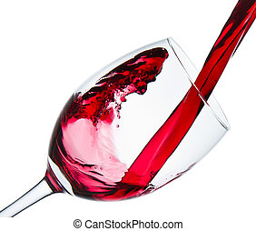 vino rosso, vetro