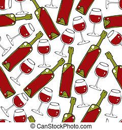 vino, seamless, pattern.