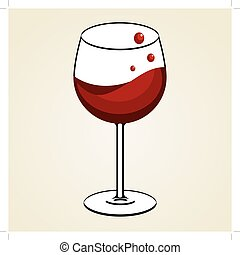 vino tinto de vidrio
