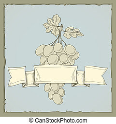 vino vendemmia, uva, etichetta