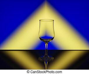 vino vidrio, patrón, refracción