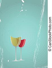 vino vidrio, vendimia