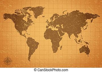 vinobraní, ilustrace, mapa
