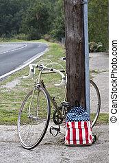 vinobraní, jezdit na kole, batoh