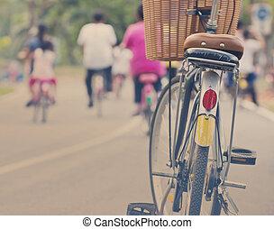 vinobraní, jezdit na kole park