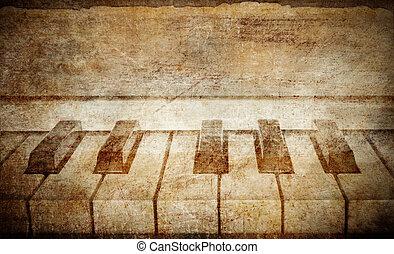 vinobraní, klavír, grafické pozadí