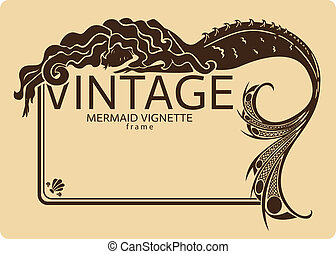 vinobraní, konstrukce, mořská panna, viněta
