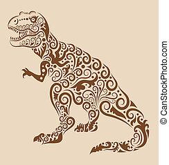 vinobraní, okrasa, dinosaurus