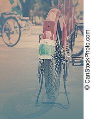 vinobraní, park., jezdit na kole, style.