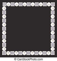 vinobraní, perla, konstrukce, grafické pozadí., vektor, ilustrace