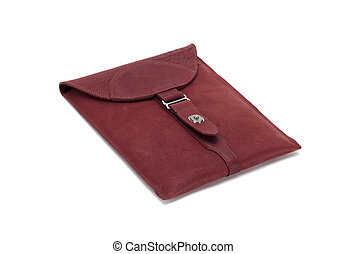 vinous purse isolated on a white background