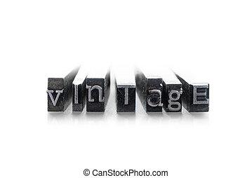 """""""vintage"""", 単語, 凸版印刷"""