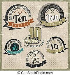 Vintage 10 anniversary collection - Vintage style 10...