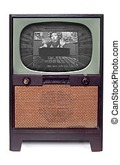 Vintage 1950 TV Television Isolated on White - 1950 Vintage ...